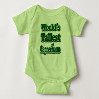 World's Tallest Leprechaun Baby Bodysuit