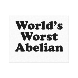 World's Worst Abelian Canvas Print