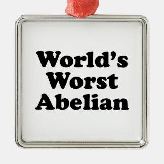 World's Worst Abelian Metal Ornament