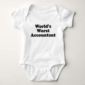 World's Worst Accountant Baby Bodysuit