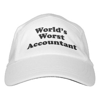 World's Worst Accountant Headsweats Hat