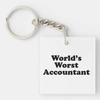 World's Worst Accountant Keychain