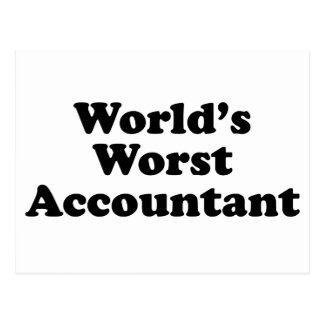 World's Worst Accountant Postcard