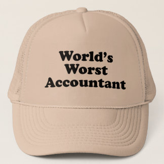 World's Worst Accountant Trucker Hat