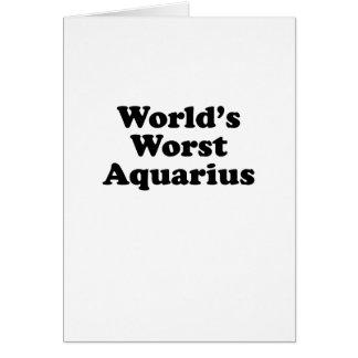 World's Worst Aquarius Card