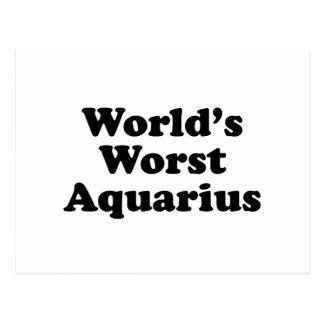 World's Worst Aquarius Postcard