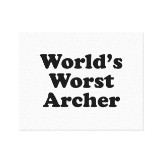 World's Worst Archer Canvas Print