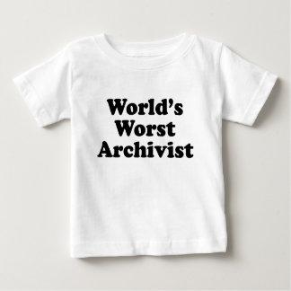 Worlds' Worst Archivist Baby T-Shirt