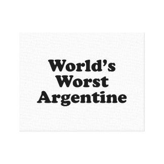 World's Worst Argentine Canvas Print