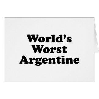 World's Worst Argentine Card