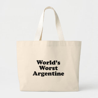 World's Worst Argentine Large Tote Bag
