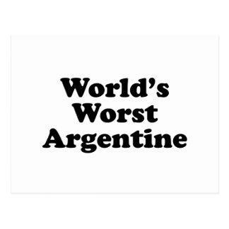 World's Worst Argentine Postcard