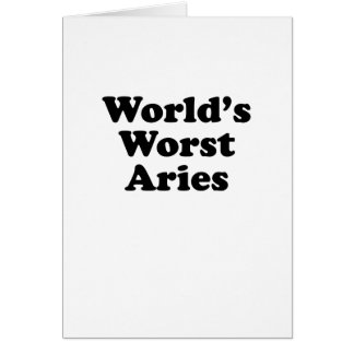 World's Worst Aries Card