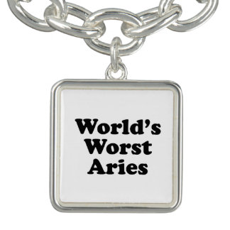 World's Worst Aries Charm Bracelet