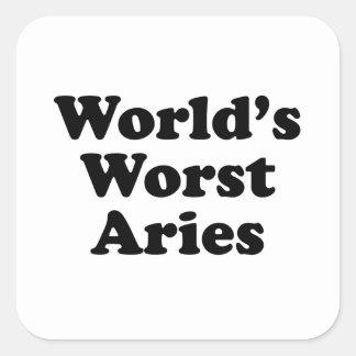 World's Worst Aries Square Sticker