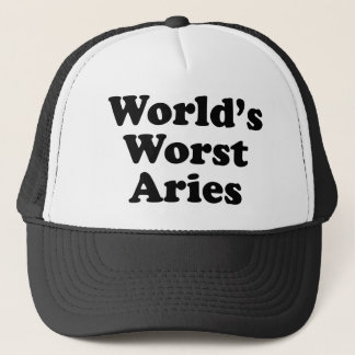 World's Worst Aries Trucker Hat