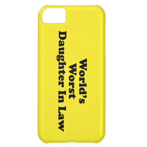 World's Worst Daughter in Law iPhone 5C Case