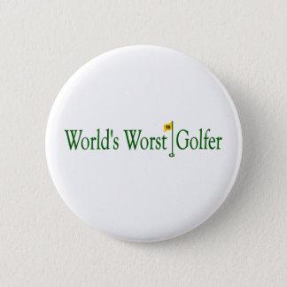 World'S Worst Golfer 2 Inch Round Button