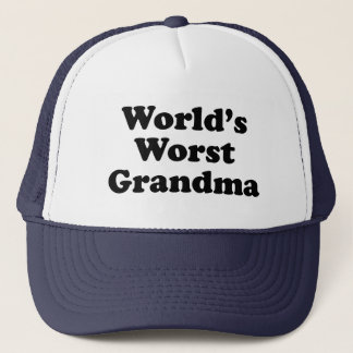 World's Worst Grandma Trucker Hat