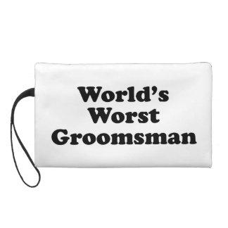 World's Worst Groomsman Wristlet Clutch