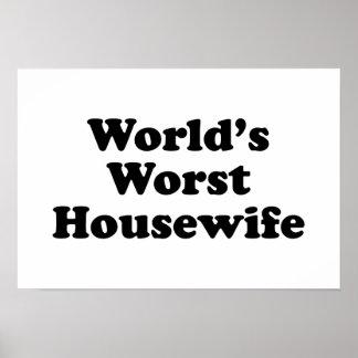 World's Worst Housewife Print