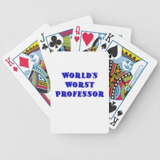 Worlds Worst Professor Poker Deck