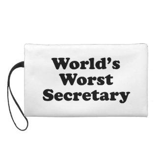 World's Worst Secretary Wristlet Clutches
