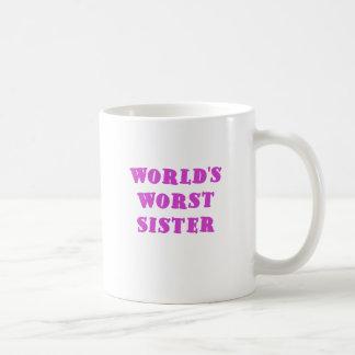 Worlds Worst Sister Coffee Mug