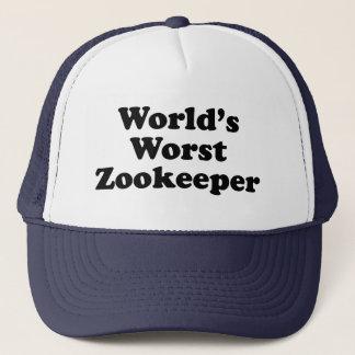 world's worst zookeeper trucker hat