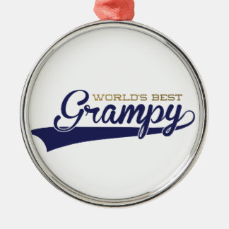 WorldsBestGrampyTee-01 Metal Ornament