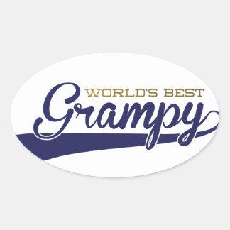 WorldsBestGrampyTee-01 Oval Sticker