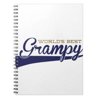 WorldsBestGrampyTee-01 Spiral Notebook