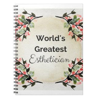 World'sGreatest Esthetician Notebook