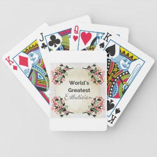 World'sGreatest Esthetician Poker Deck