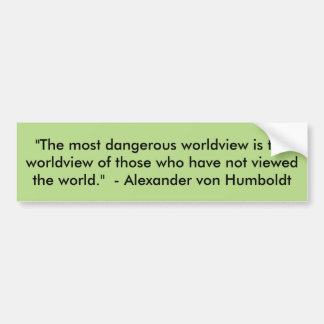 Worldview bumper sticker
