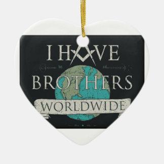 Worldwide Brotherhood Ceramic Ornament