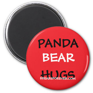 worldwide panda bear hugs 2 inch round magnet