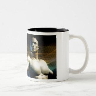 Worldwide Technology and Mass Adoption of New Tech Two-Tone Coffee Mug