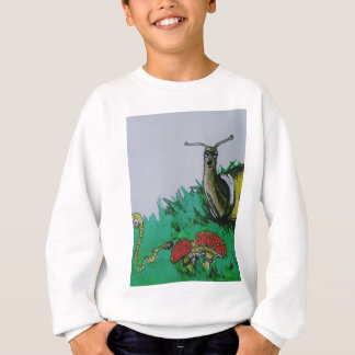 worm and snail art sweatshirt