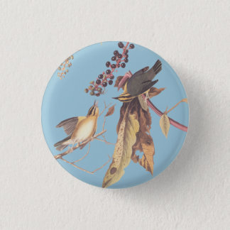 Worm-Eating Warbler Bird Round Button