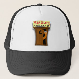 Worm in Outhouse Working With Nature Trucker Hat