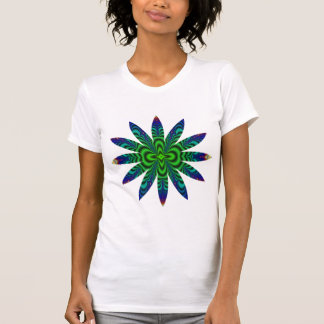 Wormhole Fractal Space Tube Flower T Shirt