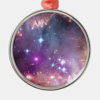 Wormholes and Nebulas Silver-Colored Round Ornament