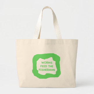 Worms feed the fisherman .png tote bag
