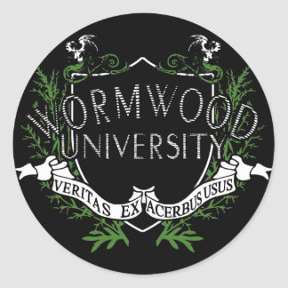 Wormwood University Round Sticker