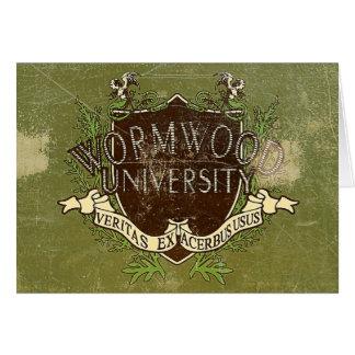 Wormwood University Vintage Card