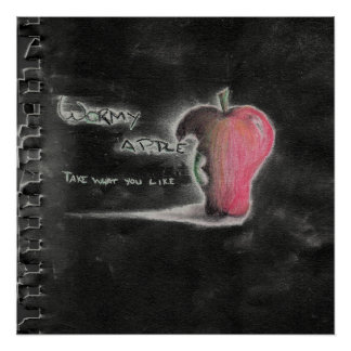 Wormy Apple Cover Art Poster