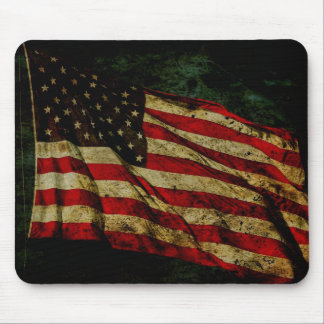 Worn American Flag Mouse Pad
