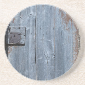 Worn and Rusty Wooden Door Coaster