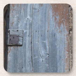 Worn and Rusty Wooden Door Coaster
